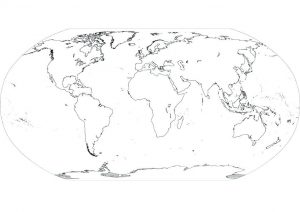 Blank Map of Continents and Oceans Worksheet