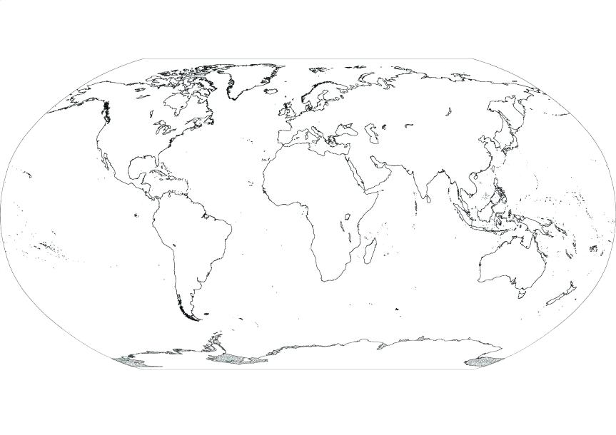 It is a photo of Transformative Map of Continents and Oceans Printable