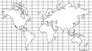 Blank Map of Continents and Oceans for Kids to Label