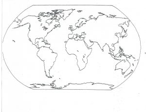 Blank Map of the Continents and Oceans Printable