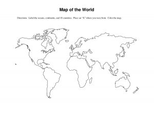 Blank Map of the Seven Continents