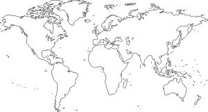 Blank Ocean and Continent Map