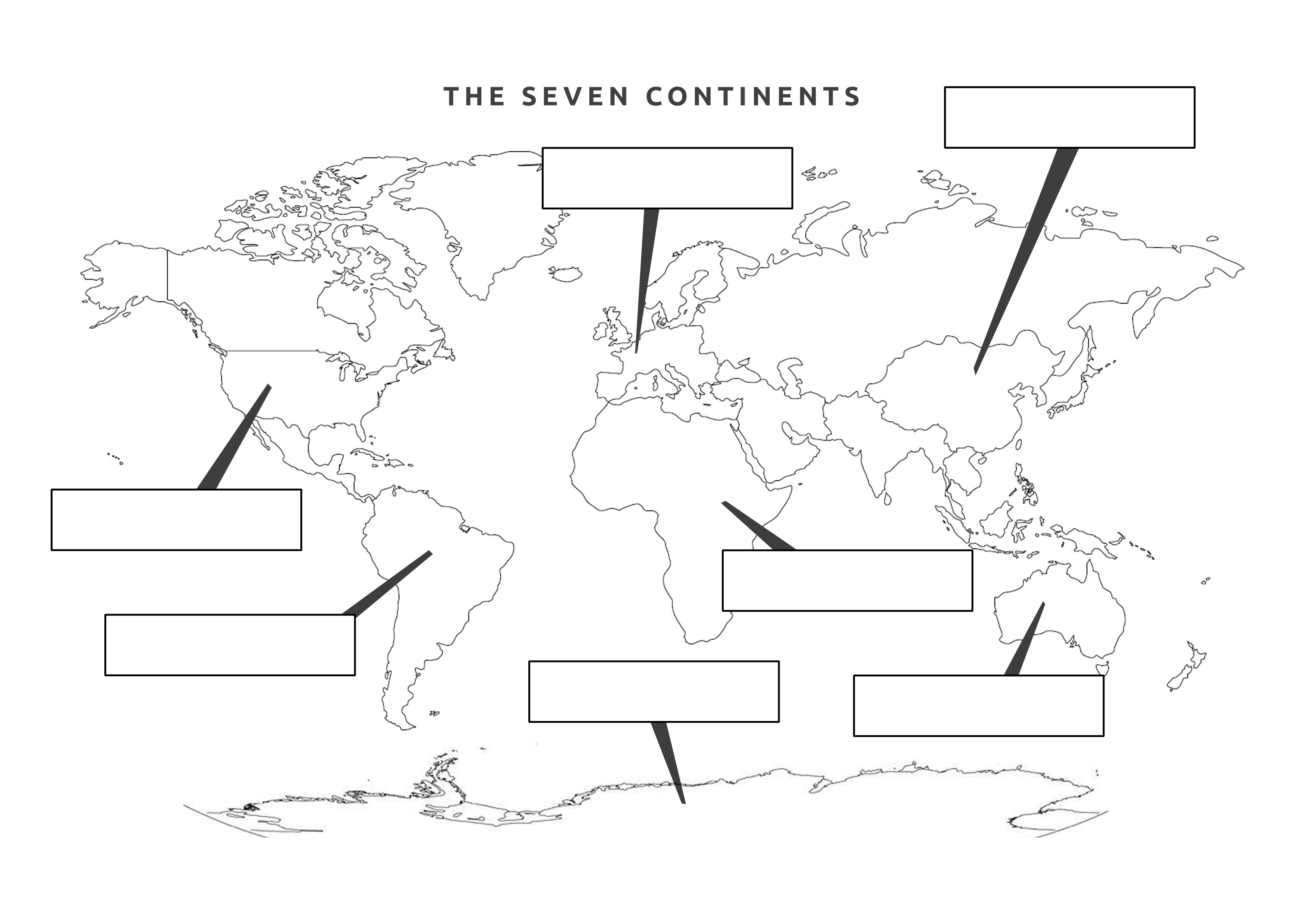It's just a photo of Revered Map of Continents and Oceans Printable