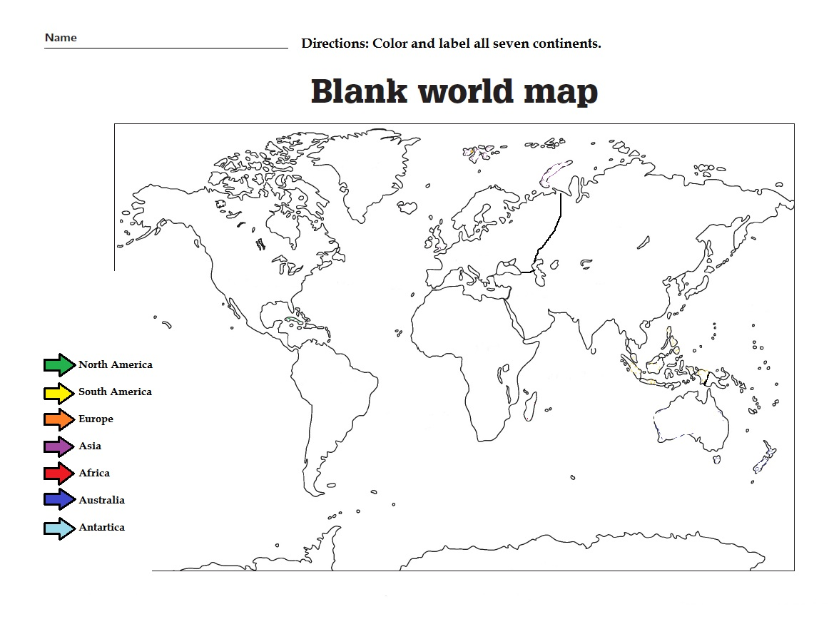 38 Free Printable Blank Continent Maps Kitty Baby Love