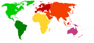 Blank World Map Continents