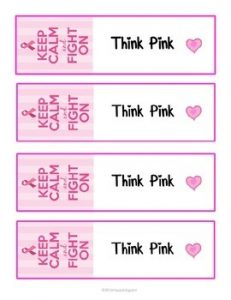 Breast Cancer Bookmarks Printable
