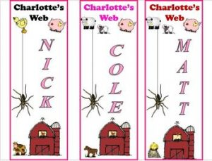 Charlotte Web Bookmarks Printable