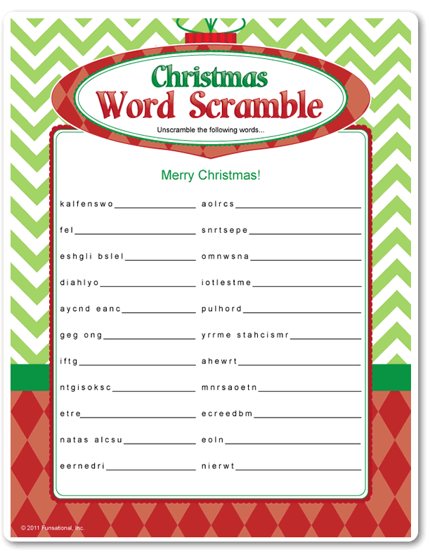 photo relating to Christmas Song Scramble Free Printable referred to as 26 Xmas Term Scrambles For On your own
