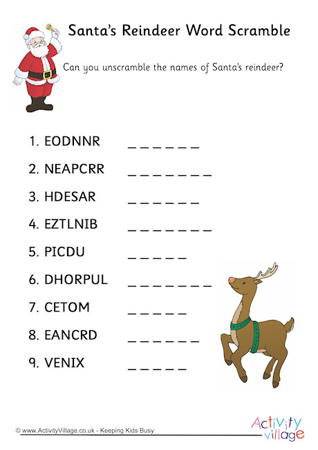 26 Christmas Word Scrambles For You Kitty Baby Love
