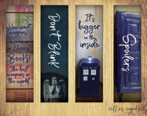 Doctor Who Bookmark Printable