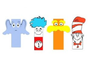 Dr Seuss Printable Bookmarks