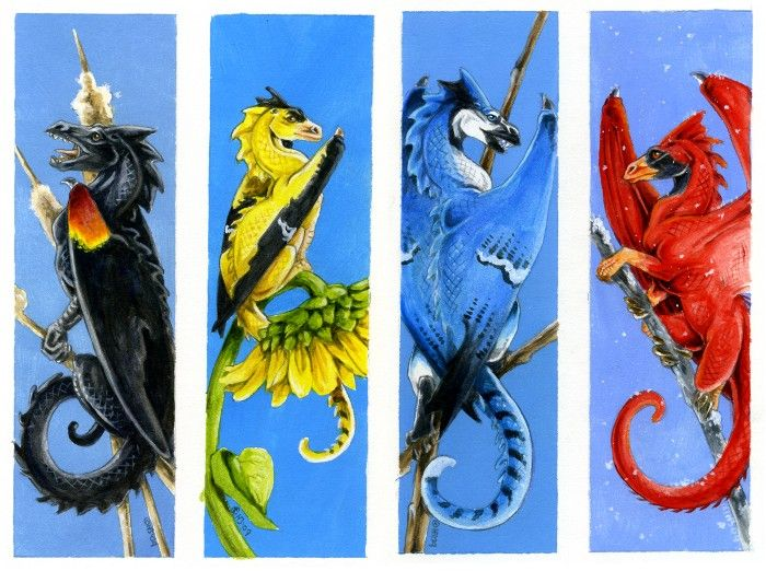 Dragon Bookmarks Free Printable