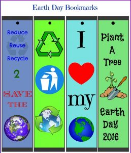 Earth Day Bookmarks Printable