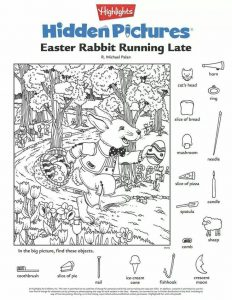 Easter Hidden Pictures Printable Worksheets