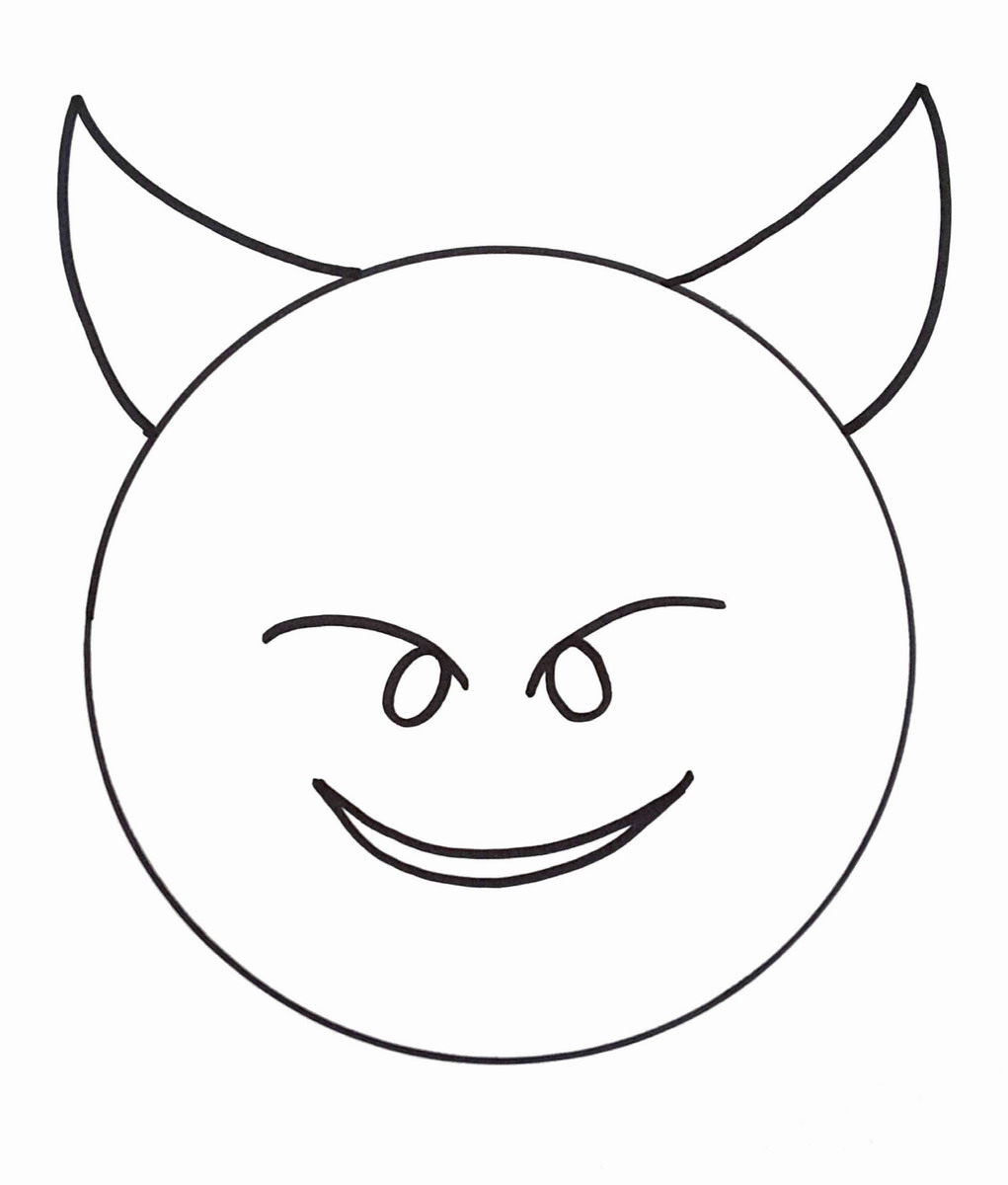 It is a photo of Breathtaking Emoji Printable Coloring Pages