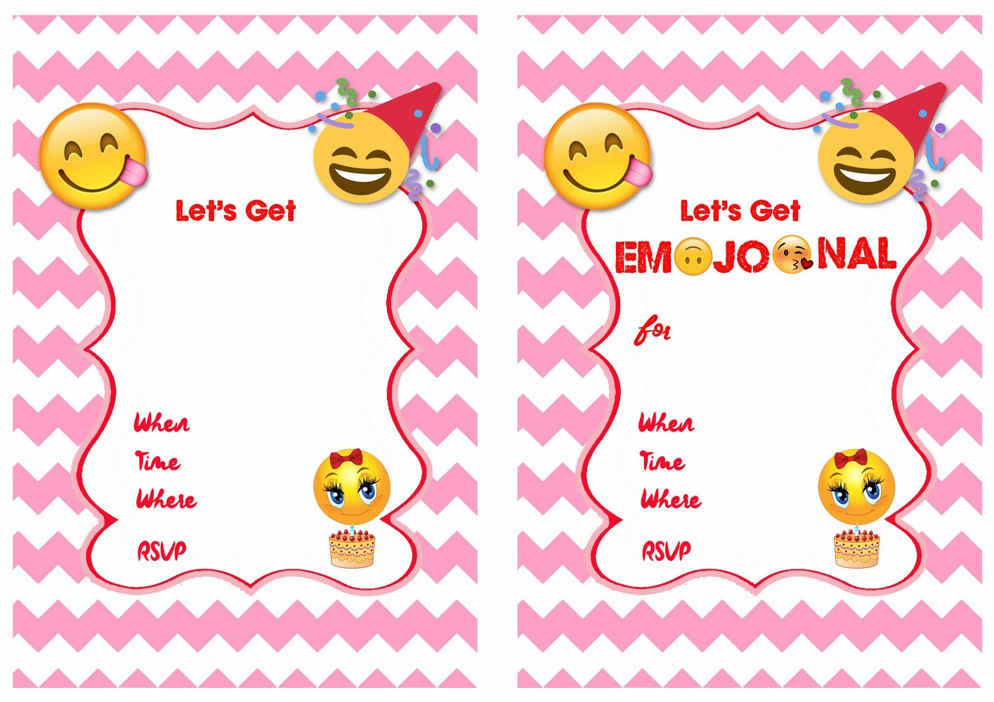 photograph about Emoji Invitations Printable Free called Emoji Invites Printable FreeKitty Youngster Appreciate