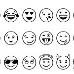 Emoji Printable Black And White