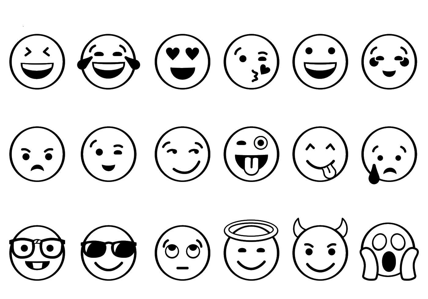 photograph about Emoji Template Printable identify 44 Remarkable Printable Emojis