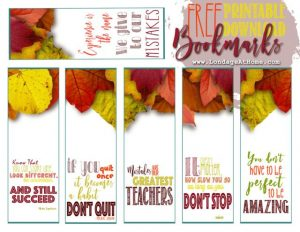 Free Printable Fall Bookmarks
