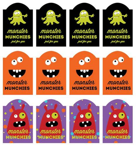 Tactueux image with free printable halloween labels