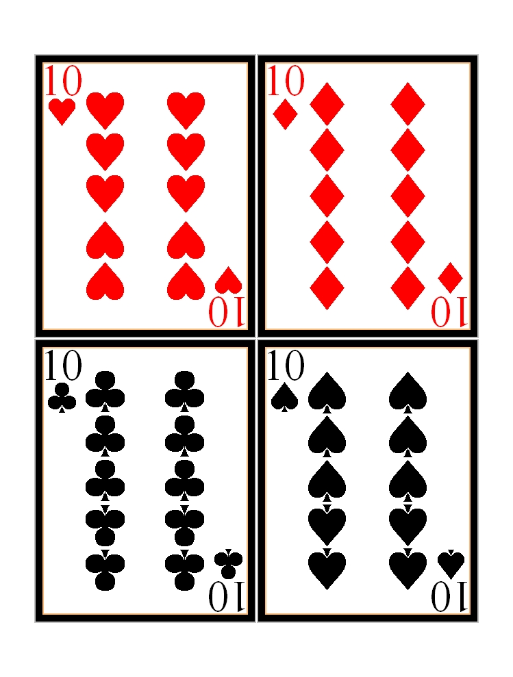 It is a graphic of Unforgettable Playing Cards Printable