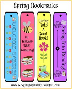 Free Printable Spring Bookmarks