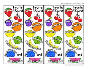 Fruit of the Spirit Bookmarks Printable