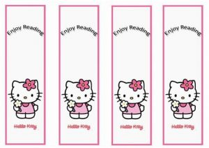 Hello Kitty Bookmarks Printable