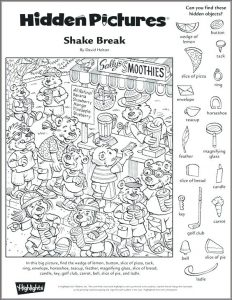 Hidden Picture Puzzles Printable