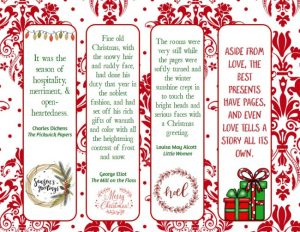 Holiday Bookmarks Printable