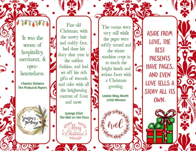 It is a graphic of Geeky Free Printable Christmas Bookmarks to Color