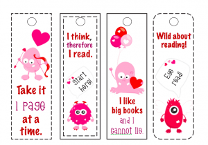 Monster Bookmarks Printable