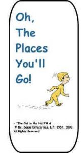 Oh the Places You'll Go Bookmark Printable