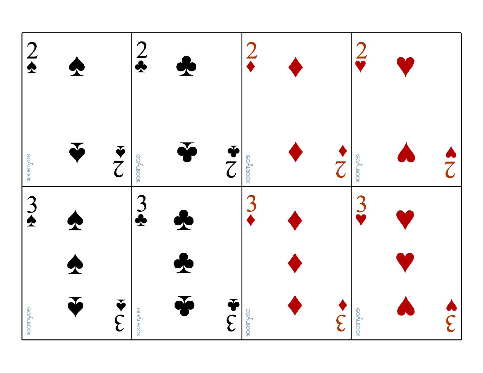 It's just a graphic of Intrepid Playing Cards Printable