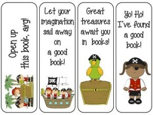 Pirate Bookmarks Printable