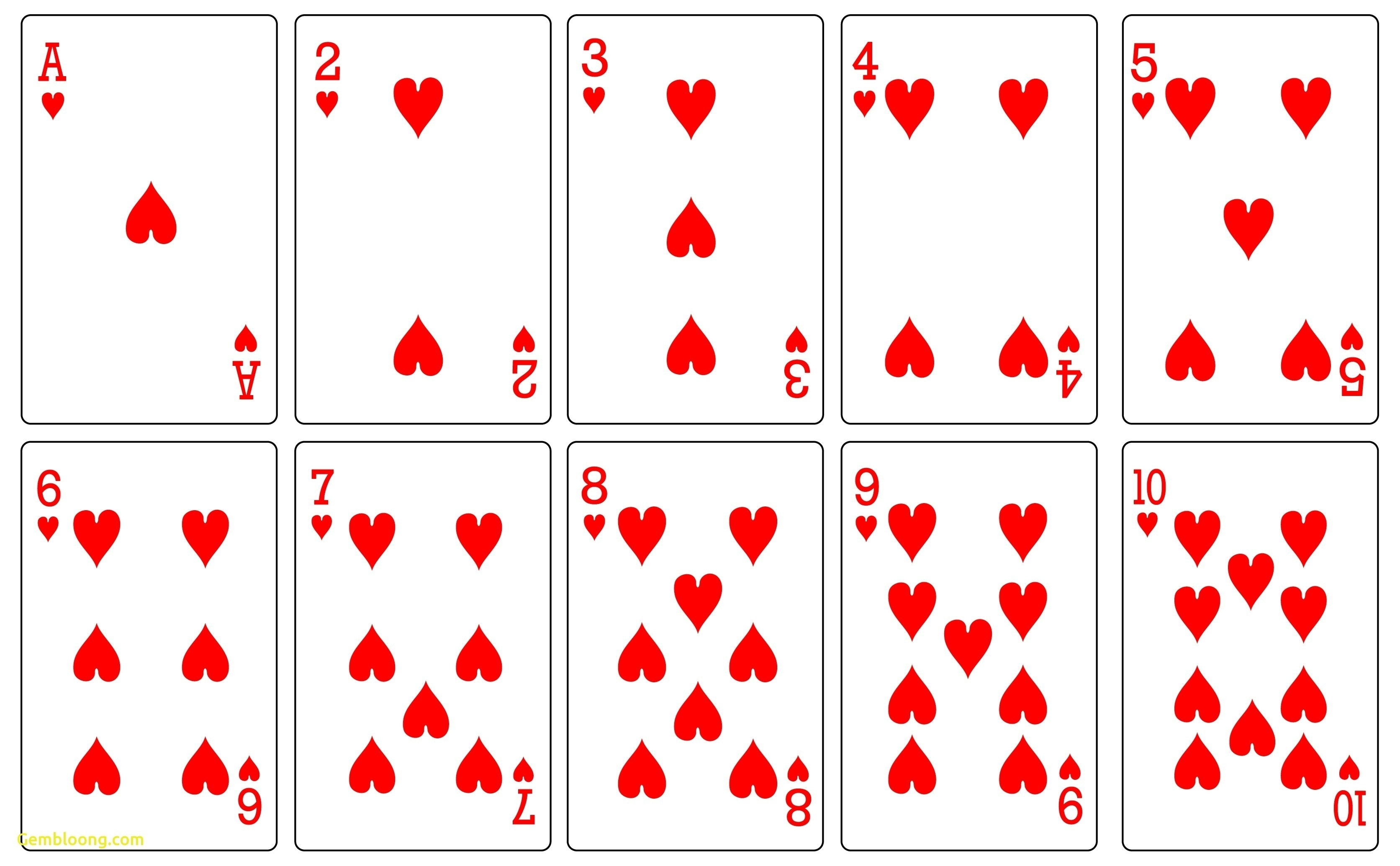 Influential image pertaining to deck of cards printable