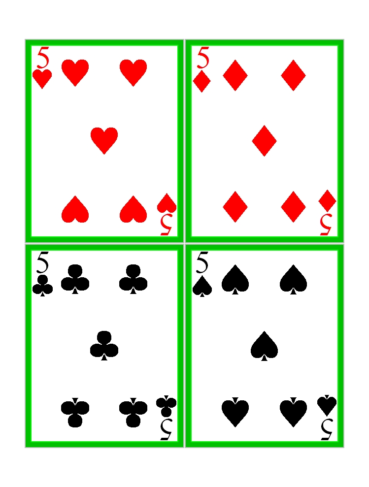 It is a picture of Dramatic Playing Cards Printable