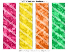 Printable Watercolor Bookmarks