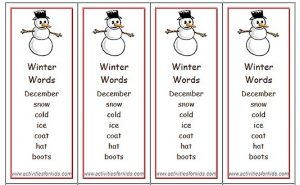 Snowman Winter Bookmarks Free Printable
