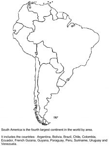 South American Continent Blank Map