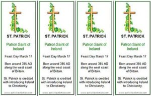St Patrick's Day Bookmarks Printable