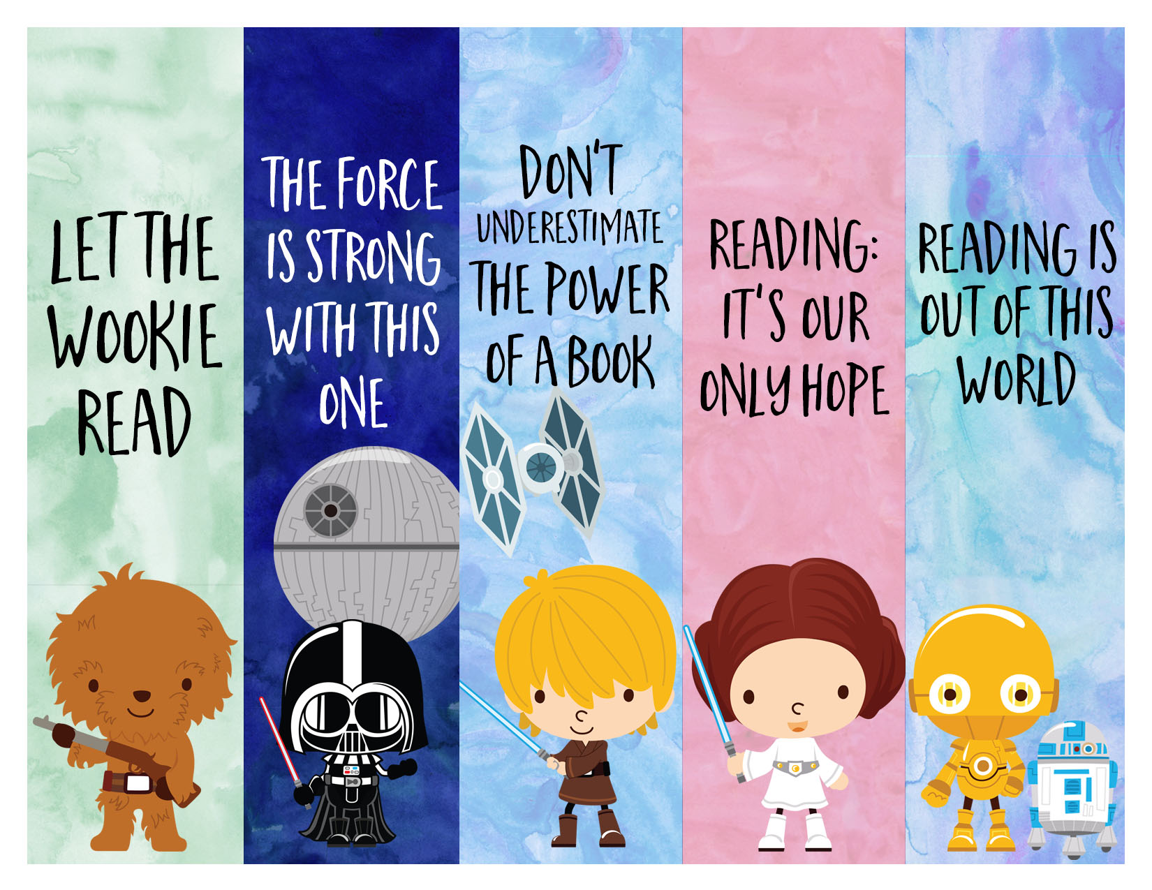 It's just a picture of Unforgettable Star Wars Bookmarks Printable