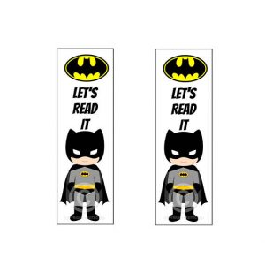 Superhero Bookmarks Printable