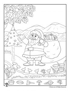 Winter Hidden Pictures Printables