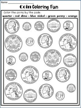 30 identifying coins and coin values worksheets. Black Bedroom Furniture Sets. Home Design Ideas