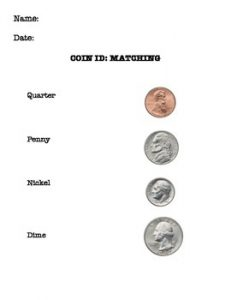 Coin Recognition Worksheet