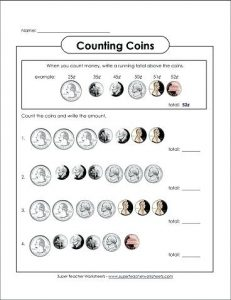Coin Worksheets for First Grade