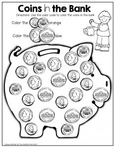 Free Identifying Coins Worksheets