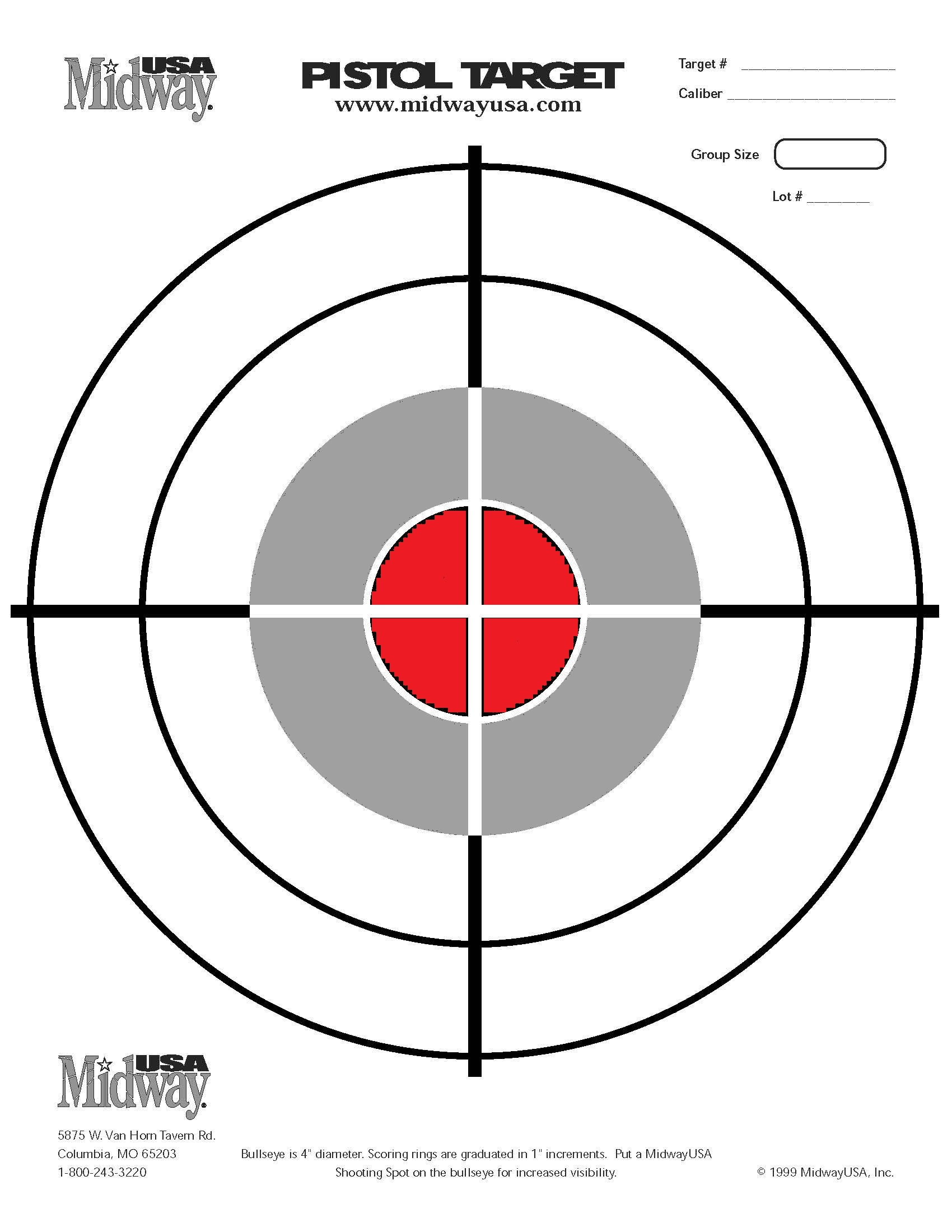 This is a photo of Amazing Printable Pistol Targets