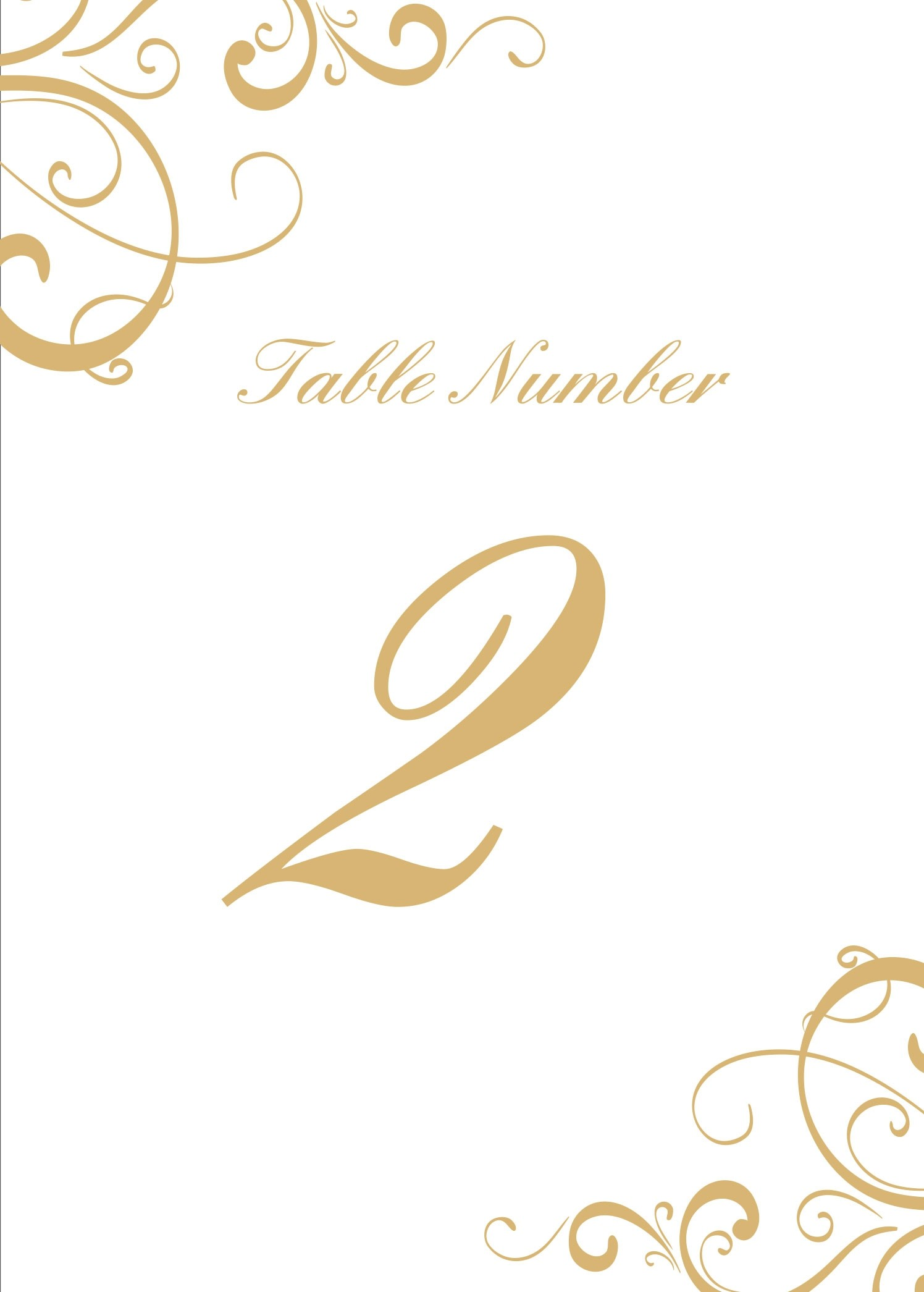 28 elegant printable table numbers